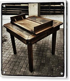 Acrylic Print featuring the photograph Table That Thought. This Beautiful by Mr Photojimsf