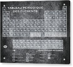 Tableau Periodiques Periodic Table Of The Elements Vintage Chart Silver Acrylic Print by Tony Rubino