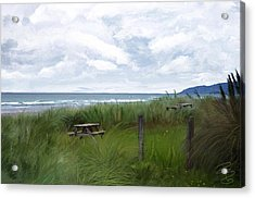 Tables By The Ocean Acrylic Print
