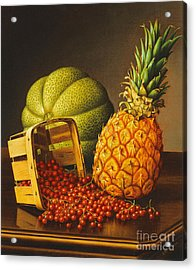 Tabletop Still Life With Fruit Acrylic Print