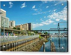 Tacoma And 11th Street Bridge Acrylic Print