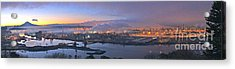 Tacoma Dawn Panorama Acrylic Print
