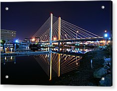 Tacoma Hwy 509 Bridge Up In Lights 2 Acrylic Print