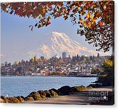 Tacoma N Mt Rainier Acrylic Print
