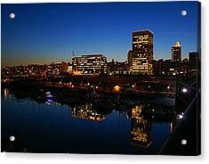 Tacoma Reflections Acrylic Print by Rob Green