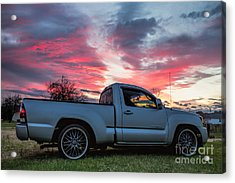 Toyota Tacoma Trd Truck Sunset Acrylic Print