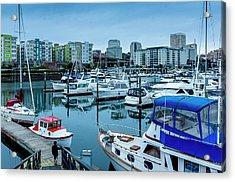 Tacoma Waterfront Marina,washington Acrylic Print
