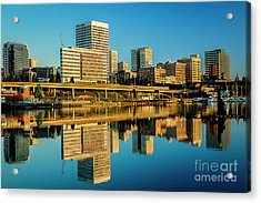 Tacoma's Waterfront,washington Acrylic Print