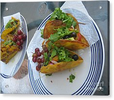Acrylic Print featuring the photograph Tacos Almost Mirrored by Marie Neder