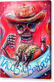 Acrylic Print featuring the painting Tacos De Barbacoa by Heather Calderon