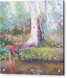 Tad Poling By The River Acrylic Print by Jan Matson