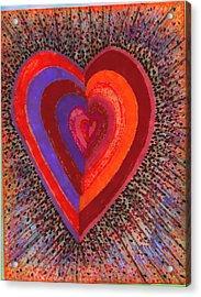 Tada Heart Acrylic Print by Brenda Adams