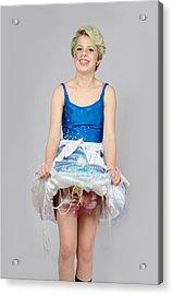 Taetyn In Jelly Fish Dress Acrylic Print