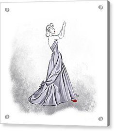 Acrylic Print featuring the digital art Taffeta Gown by Cindy Garber Iverson