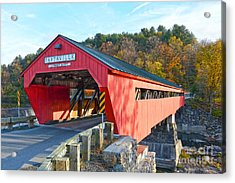 Taftsville Covered Bridge Acrylic Print by Catherine Sherman