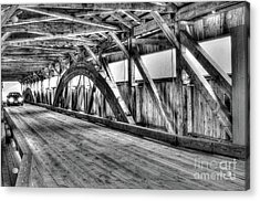 Taftsville Covered Bridge Acrylic Print by Steve Brown