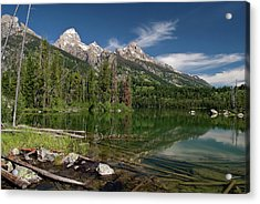 Taggart Lake Visit Www.angeliniphoto.com For More Acrylic Print by Mary Angelini