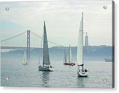 Tagus Sailing Acrylic Print