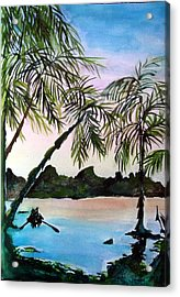Tahiti Acrylic Print by Mindy Newman