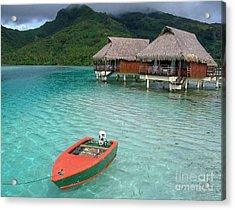 Tahitian Boat Acrylic Print