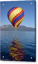 Acrylic Print featuring the photograph Tahoe Balloon. by Mitch Shindelbower