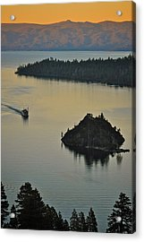 Tahoe Queen Steaming Into Emerald Bay Acrylic Print