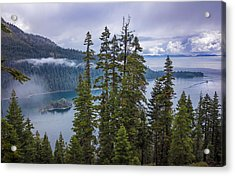Emerald Bay With Steamboat Acrylic Print