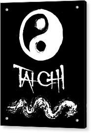 Tai Chi Black Acrylic Print