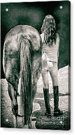 Tails Acrylic Print by Steven Digman