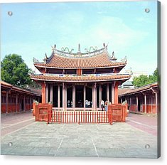 Acrylic Print featuring the photograph Tainan Confucian Temple by HweeYen Ong
