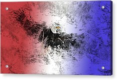 Tainted Eagle Acrylic Print by Sean Holmquist