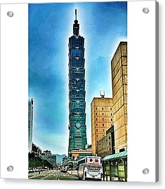 Taipei 101 (chinese: 台北101 / Acrylic Print