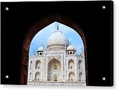 Taj Archway Acrylic Print by Nila Newsom