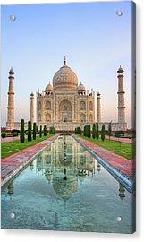 Taj Mahal, Agra Acrylic Print by Pushp Deep Pandey / 2kPhotography