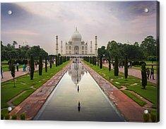 Taj Mahal At Sundown Acrylic Print