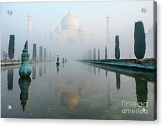 Taj Mahal At Sunrise 01 Acrylic Print