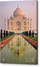Taj Mahal At Sunrise Acrylic Print