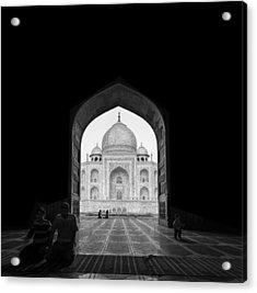 Taj Mahal Acrylic Print by Basem Al-qasim