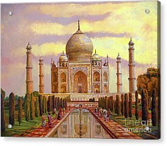 Taj Mahal Acrylic Print by Dominique Amendola