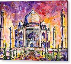 Taj Mahal Acrylic Print by Ginette Callaway