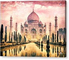 Taj Mahal Acrylic Print by Mo T