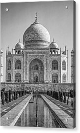 Taj Mahal Monochrome Acrylic Print