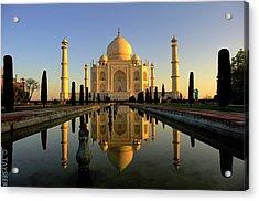 Taj Mahal Acrylic Print by Tayseer AL-Hamad
