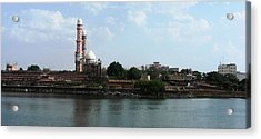 Tajul Masajid Panorama Acrylic Print by Mohammed Nasir