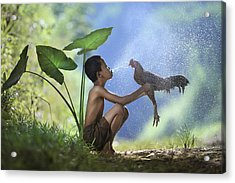 Take A Bath Acrylic Print by Andre Arment