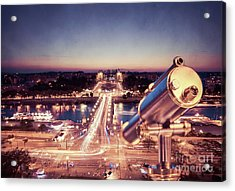 Acrylic Print featuring the photograph Take A Look At Paris by Hannes Cmarits
