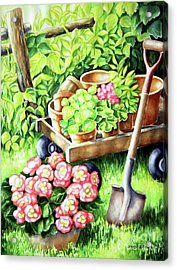 Acrylic Print featuring the painting Take A Rest by Inese Poga