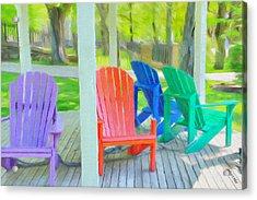 Take A Seat But Don't Take A Chair Acrylic Print by Jeff Kolker