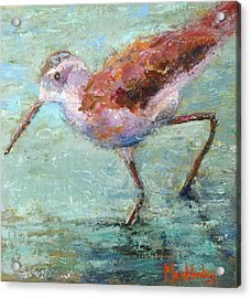 Acrylic Print featuring the painting Take A Step by Marie Hamby