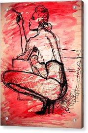 Acrylic Print featuring the painting Take Five  by Jarko Aka Lui Grande